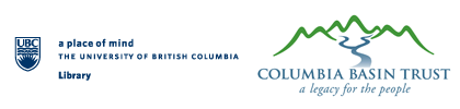 UBC Library and Columbia Basin Trust logos