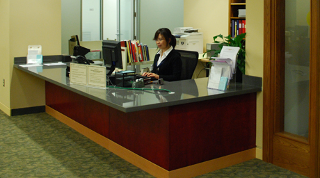 Rare Books and Special Collections service desk